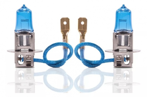 PAR LAMPADA FAROL SUPER BRANCA TECHONE H3 12V 55W 8500K