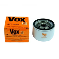 FILTRO DE OLEO VOX LB77 PSL77 - SYMBOL LIVINA CAPTUR CLIO DUSTER GRAND SCENIC KANGOO 206 LOGAN MEGANE SANDERO