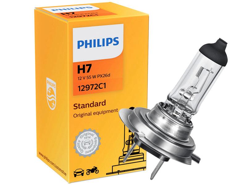 LAMPADA FAROL PHILIPS H7 12V 55W H7-12972C1