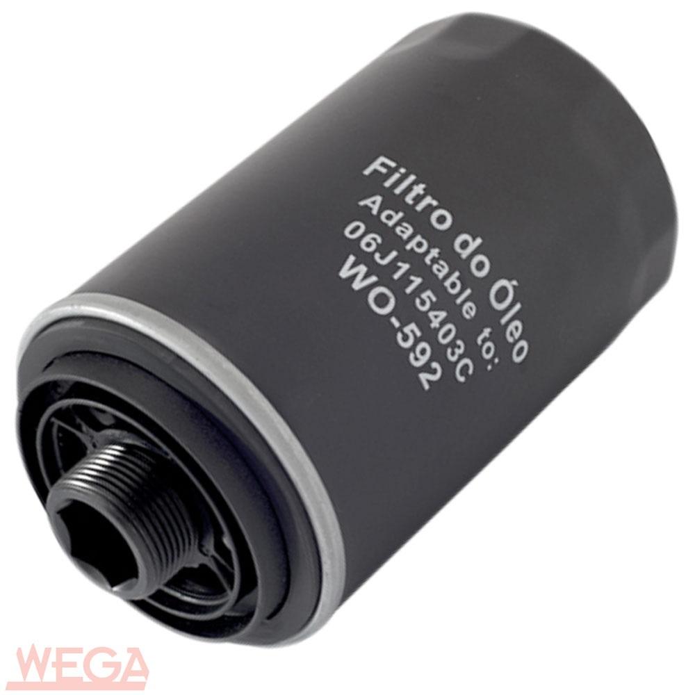 FILTRO DE OLEO WEGA WO592 PSL557 A4 TT TTS A5 PASSAT A3 EOS FUSCA TIGUAN JETTA Q5