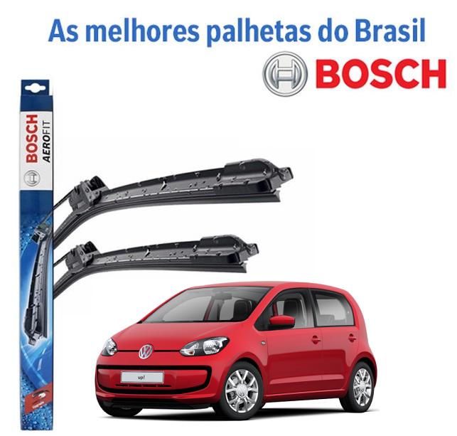 """PALHETAS LIMPADOR DIANTEIRO 24""""/16"""" BOSCH AEROFIT SD 9 VW UP 2014 EM DIANTE"""