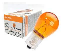 LAMPADA  OSRAM 1 POLO PINO EM V LARANJA AMBAR 7507 12V 21W PY21W