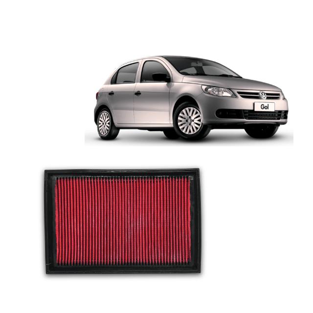 FILTRO DE AR ESPORTIVO INBOX RS VW GOL VOYAGE FOX G4 G5 G6 1.0 VHT