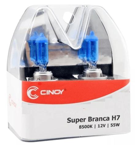 PAR LAMPADA H7 12V 55W SUPER BRANCA CINOY