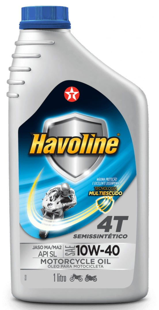 OLEO HAVOLINE MOTO 4T 10W40 JASO MA/MA2 API SL 1L