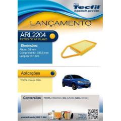 FILTRO DE AR TECFIL ARL2204 FAP-4043 - TOYOTA ETIOS 1.3 1.5 2013 A 2015