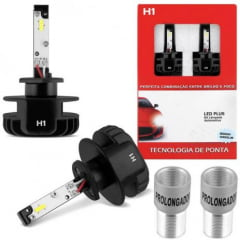 KIT LAMPADA SUPER LED PLUS CINOY H1 12V 6500K 6000 LUMENS