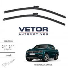 """PAR PALHETA LIMPADOR DIANTEIRO VETOR F2424A 24""""/24"""" - VW AMAROK 2013 EM DIANTE"""