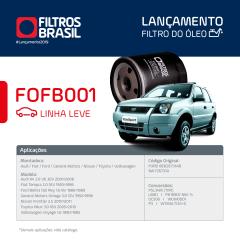 FILTRO DE OLEO FILTROS BRASIL FOFB001 TM1 PSL47 PSL144 PSL145 PSL146 PSL147 PSL565 PSL34M FIAT AUDI FORD TOYOTA CHERY