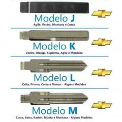 CHAVE CANIVETE GM ADAPTACAO CORSA / CELTA / ASTRA / AGILE 2 BOTOES C/ LAMINA MODELO M