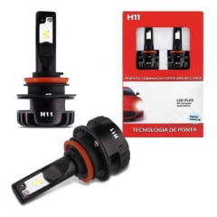 KIT LAMPADA SUPER LED CINOY H11 / H8 / H9 35W 12V 6500K 6000 LUMENS