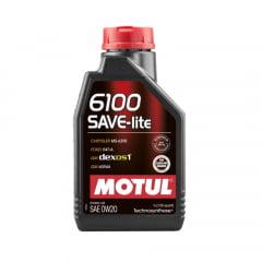 ÓLEO MOTUL 6100 SAVE-LITE 0W20 API SN DEXOS1 1L
