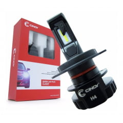 KIT LAMPADA SUPER LED H4 PLUS CINOY 6500K 6000 LUMENS 12V
